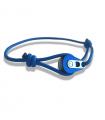 "Bracelet ""poulie"" PVD bleu / acier - cordon navy"